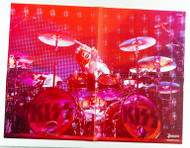 KISS Poster - Eric Singer live, red, 4 page fold-out