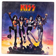 KISS Vinyl Record LP - Destroyer, original blue Casablanca label