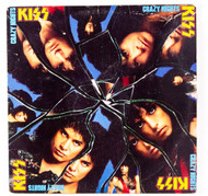 KISS Vinyl Record LP - Crazy Nights, (8/10)