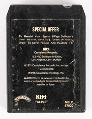 KISS 8-Track Tape - Alive!, (alternate Special Offer cover)