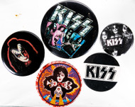 KISS Button - Set of Five, (C)