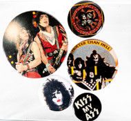KISS Button - Set of Five, (B)