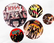 KISS Button - Set of Five, (A)