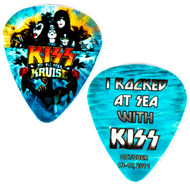 KISS Guitar Pick - KISS Kruise I, I Rocked at Sea with KISS, (aqua)