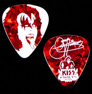 KISS Guitar Pick - KISS Kruise VIII, Gene, (Pearloid Red)