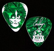 KISS Guitar Pick - KISS Kruise VIII, Gene, (Pearloid Green)