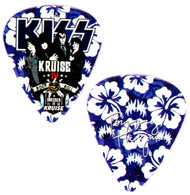 KISS Guitar Pick - KISS Kruise IV, Indigo Flowers, Tommy