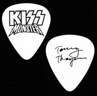 KISS Guitar Pick - Monster, black on white, Tommy.