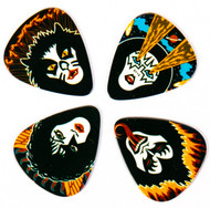 KISS Guitar Pick - Rock and Roll Over, retail, (set of 4)