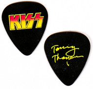 KISS Guitar Pick - Alive 35, yellow on black, Tommy