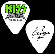 KISS Guitar Pick - Monster, Europe 2013, green logo, Eric