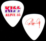 KISS Guitar Pick - Alive 35, red on white, Paul