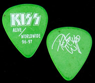 KISS Guitar Pick - Alive/Worldwide, powder green, Peter