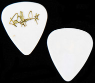 KISS Guitar Pick - Paul Stanley Solo Tour 1989, gold on white