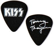 KISS Guitar Pick - Rock The Nation tour, white on black, Tommy