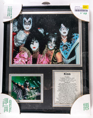 KISS Framed Photo with discography, Dynasty.