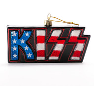 KISS Christmas ornament - KISS Glass Flag Logo.