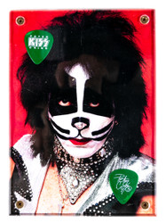 KISS Guitar Pick - Display Plaque, Peter