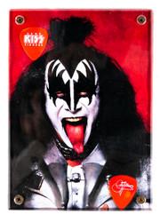 KISS Guitar Pick - Display Plaque, Gene