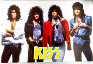 KISS Poster - Animalize 1984, white background and Gold Logo w/Mark, (tack holes, 8/10).