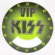 KISS Backstage Pass - World Domination tour VIP, green