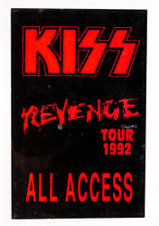 KISS Backstage Pass - Revenge 1992 CLUB TOUR