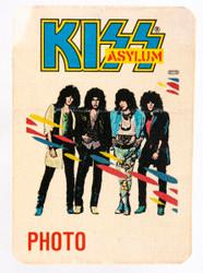 KISS Backstage Pass - KISS Asylum 1986 Photo, cloth.