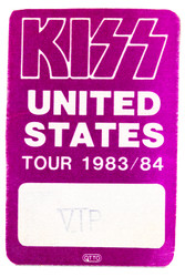 KISS Backstage Pass - Lick It Up Tour, 1983/84