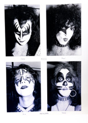 KISS Photo - 11 x 17 Alive! Head Shots 1975