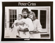 KISS Photo - 8 x 10 Official Press Photo, Peter Criss with family, solo 1980