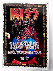 KISS Embossed Metal Sign - I Was There