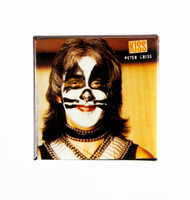 KISS Button - Peter Alive II smile, SQUARE