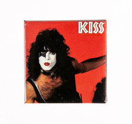 KISS Button - Paul Red Background, SQUARE