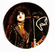 KISS Button - Paul, 3-inch JUMBO, (7/10)