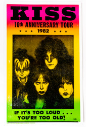 KISS Poster - 10th Anniversary Creatures Tour, (reproduction)