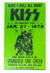 KISS Poster - Springfield 1978, (reproduction)
