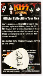 KISS Guitar Pick - KISS Kruise 2012, Paul black on white, (packaged)