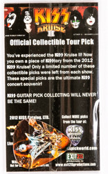 KISS Guitar Pick - KISS Kruise 2012, Tommy Photo, (packaged)