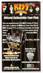 KISS Guitar Pick - KISS Kruise 2012, Eric Photo, (packaged)