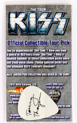 KISS Guitar Pick - The Tour, Tommy black on white, (packaged)