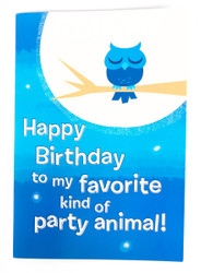 KISS Electronic Birthday Card - Rock and Roll all Nite, blue large