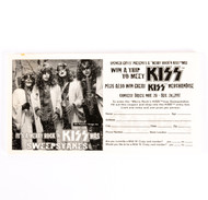KISS Sweepstakes Entry Pad 1997
