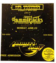 Ace Frehley Concert Flier - Hammerjacks, Baltimore 1987