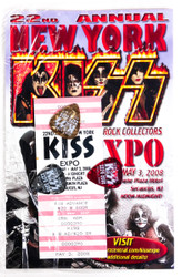 New York KISS Expo Packet - Picks, Ticket, booklet, (sealed), 22nd annual
