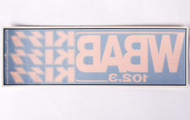 KISS Sticker - Window Static, WBAB KISS concert promo.