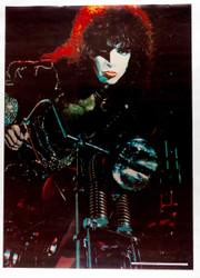 KISS Poster - Motorcycle, 1977 printing, Paul.