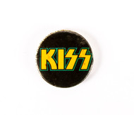 KISS Button - Yellow Logo
