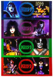 KISS Trading Cards - Cornerstone Series 1 Colored Foil Chase set of 8 - UNCUT.