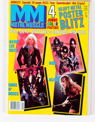 KISS Magazine - Metal Muscle, Heavy Metal Poster Blitz, 1988