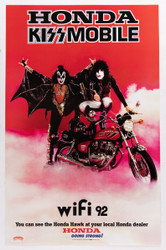 KISS Poster - Honda KISSmobile, Mini-Poster, reprint.